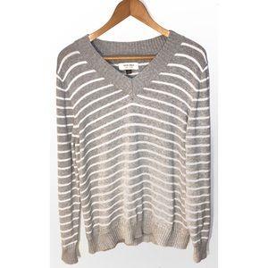 Sonoma Striped V Neck Sweater Size XXL